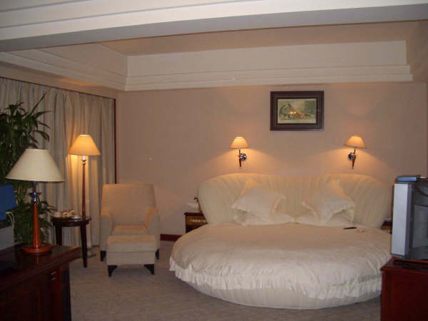 许昌酒店的椭圆形的大水床