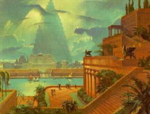 空中花园是新巴比伦国王尼布甲尼撒二世在公元前600年左右建造的.