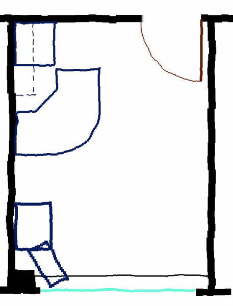 The floorplan of my office