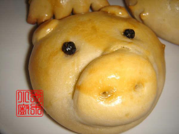 可爱的动物面包