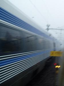 Tåget susar iväg